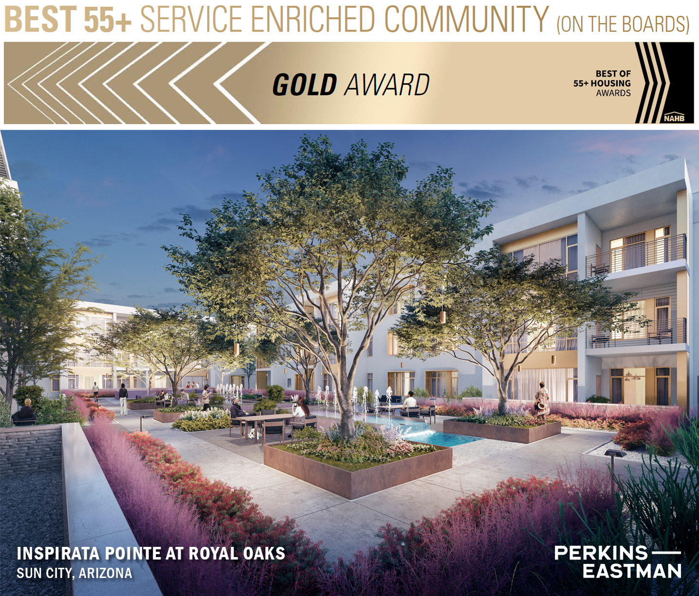 Perkins Eastman Sweeps National Association of Home Builders 55+ Housing Awards 1